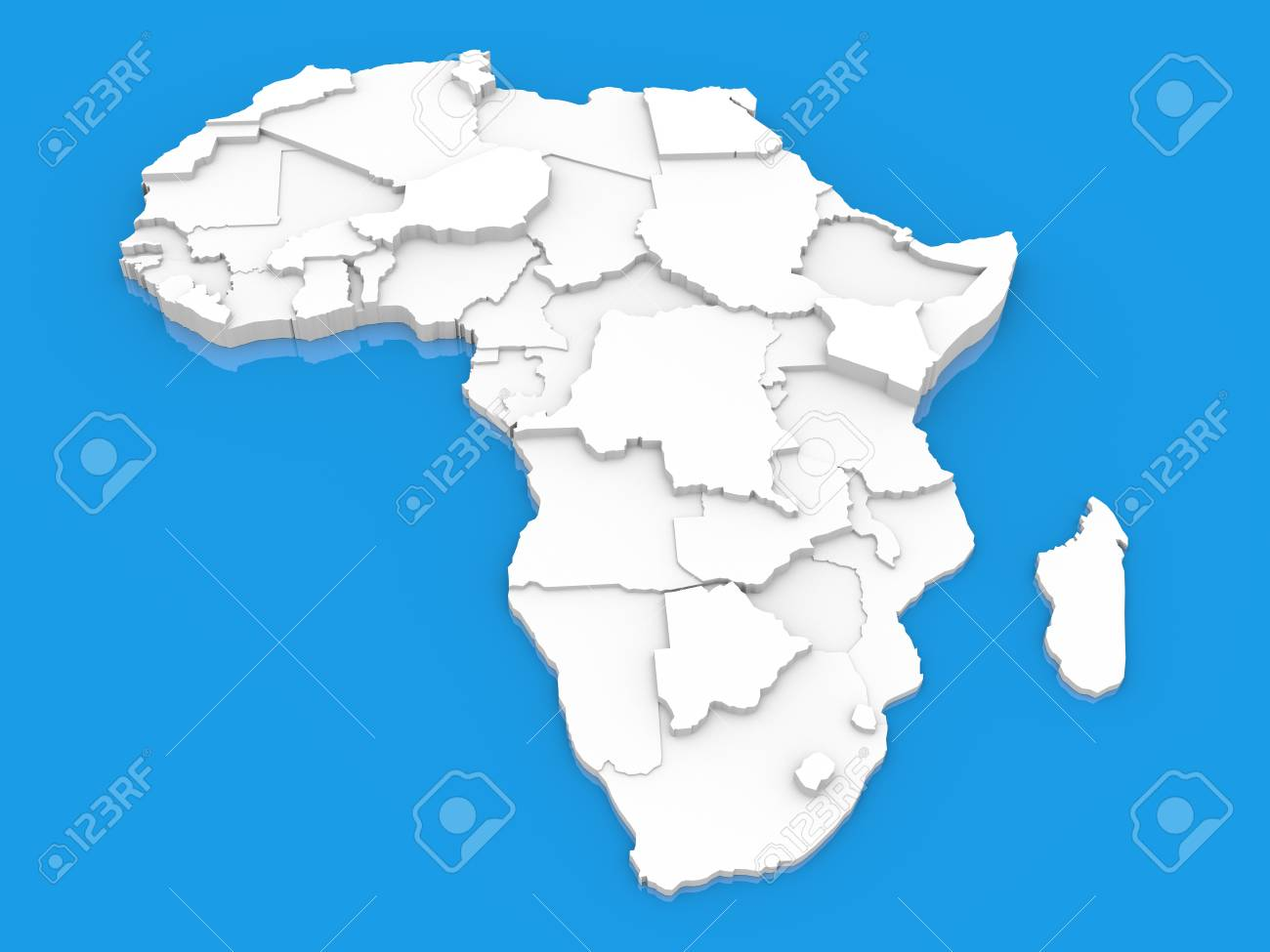 Map of Africa Stock Photo - 15311932