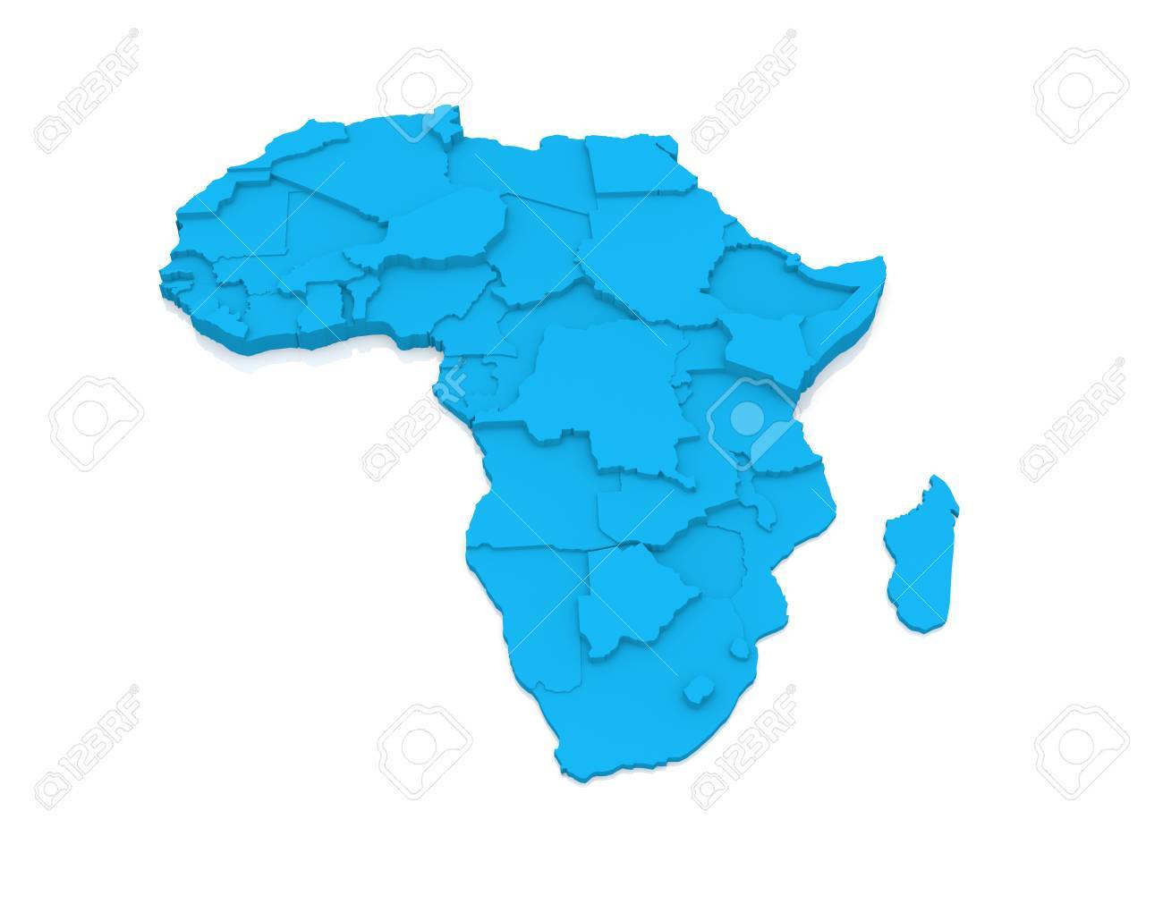 Map of Africa Stock Photo - 15311922