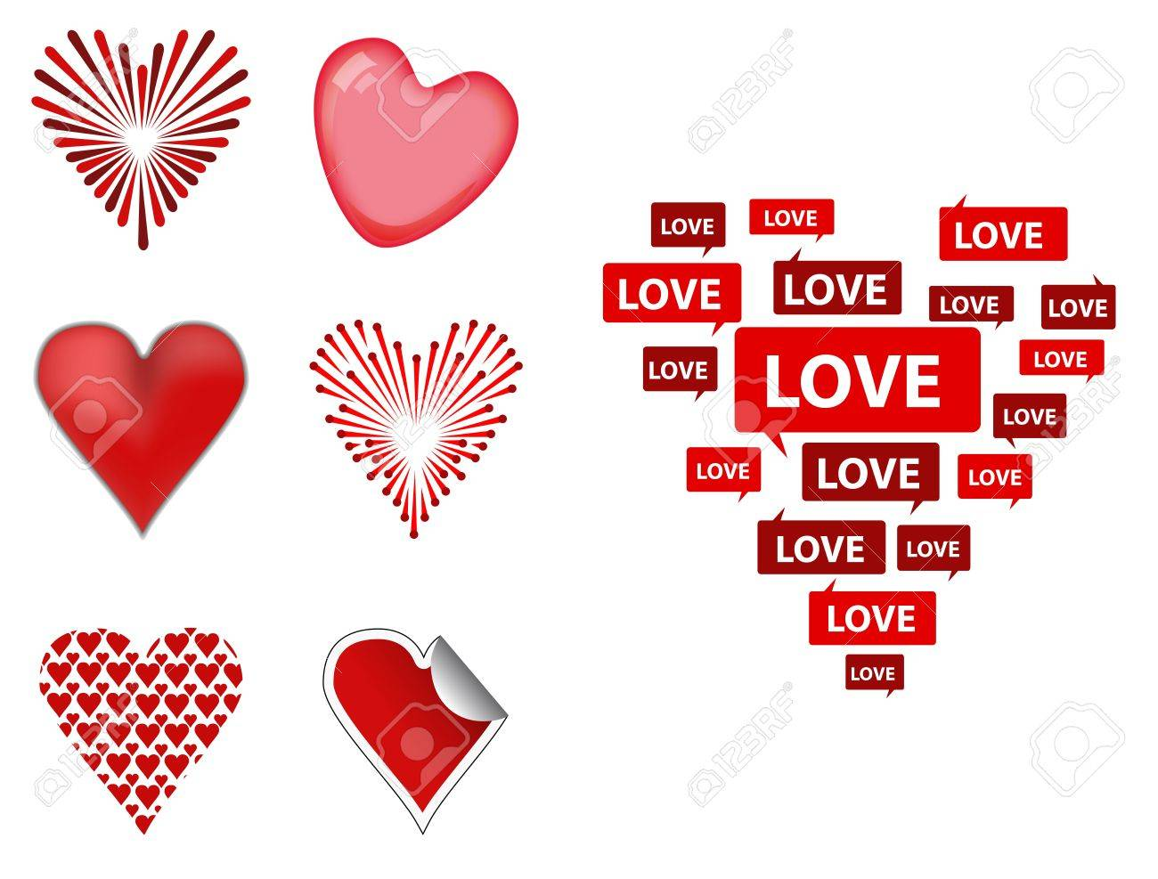 Love hearts Stock Vector - 17983038