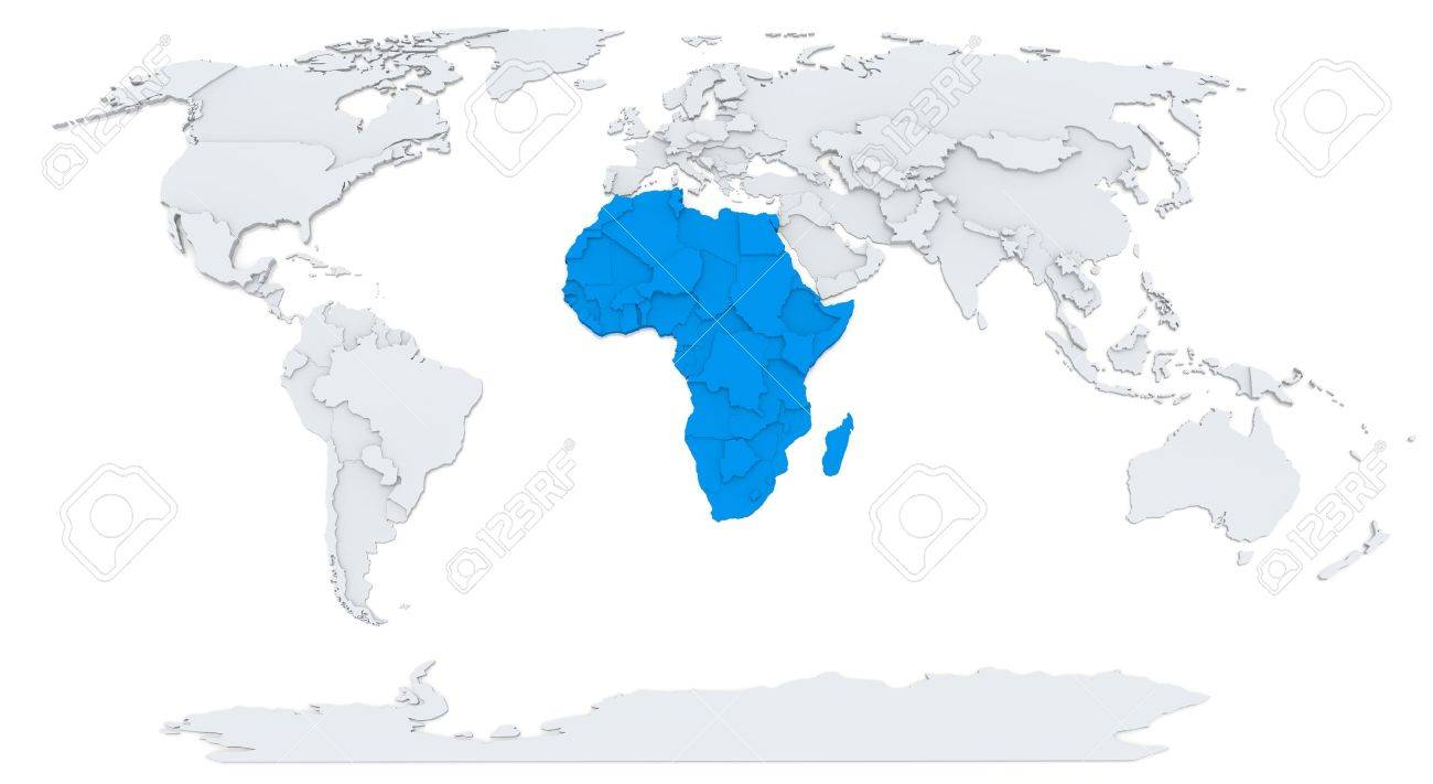 3d Africa Map Vector Picture Ideas References