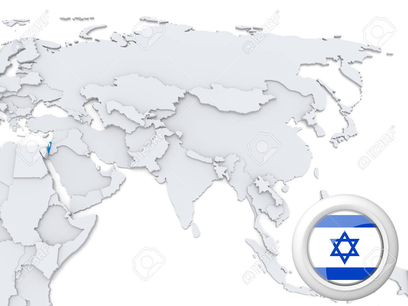 Highlighted israel on map of asia with national flag stock photo highlighted israel on map of asia with national flag stock photo 22242802 gumiabroncs Choice Image