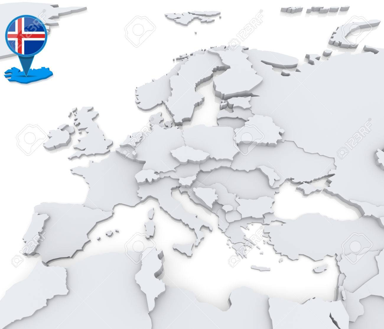 Highlighted iceland on map of europe with national flag stock photo highlighted iceland on map of europe with national flag stock photo 31206497 gumiabroncs Gallery