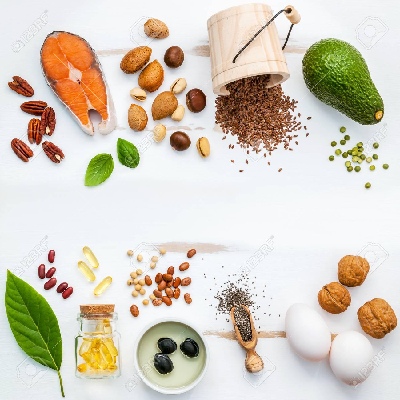 auswahl nahrungsquellen fr omega 3 super lebensmittel mit hohem omega 3 und - Ungesattigte Fettsauren Beispiele