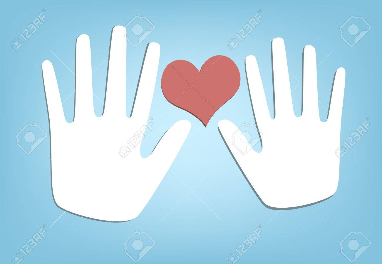 Two Hands and Heart. - 11844266