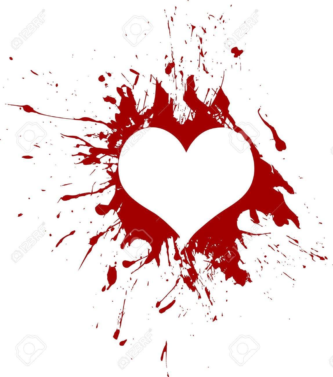 Red grunge heart - 12062308