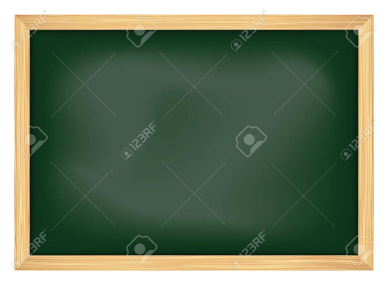 empty school chalkboard with frame - 14901729