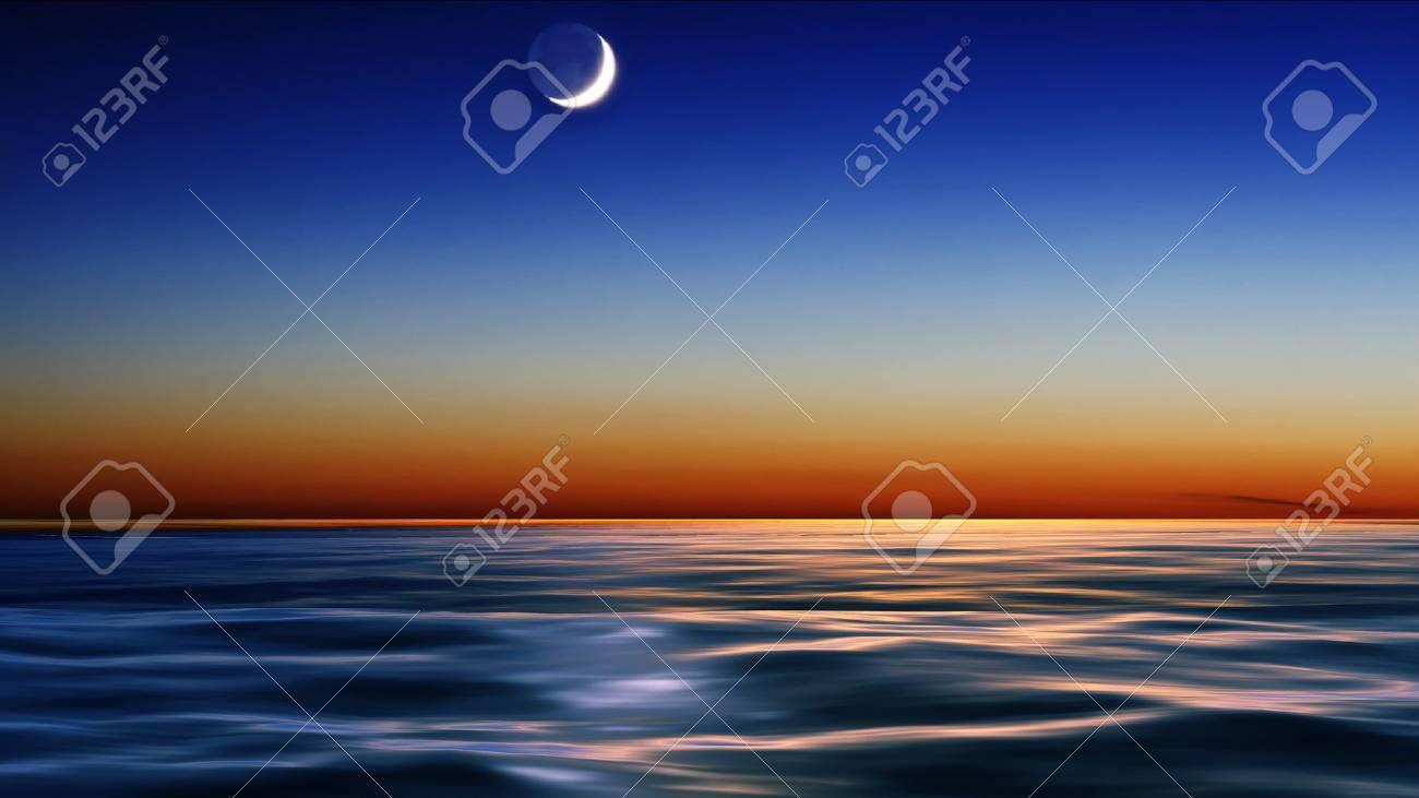 night sky over the sea - 15060040
