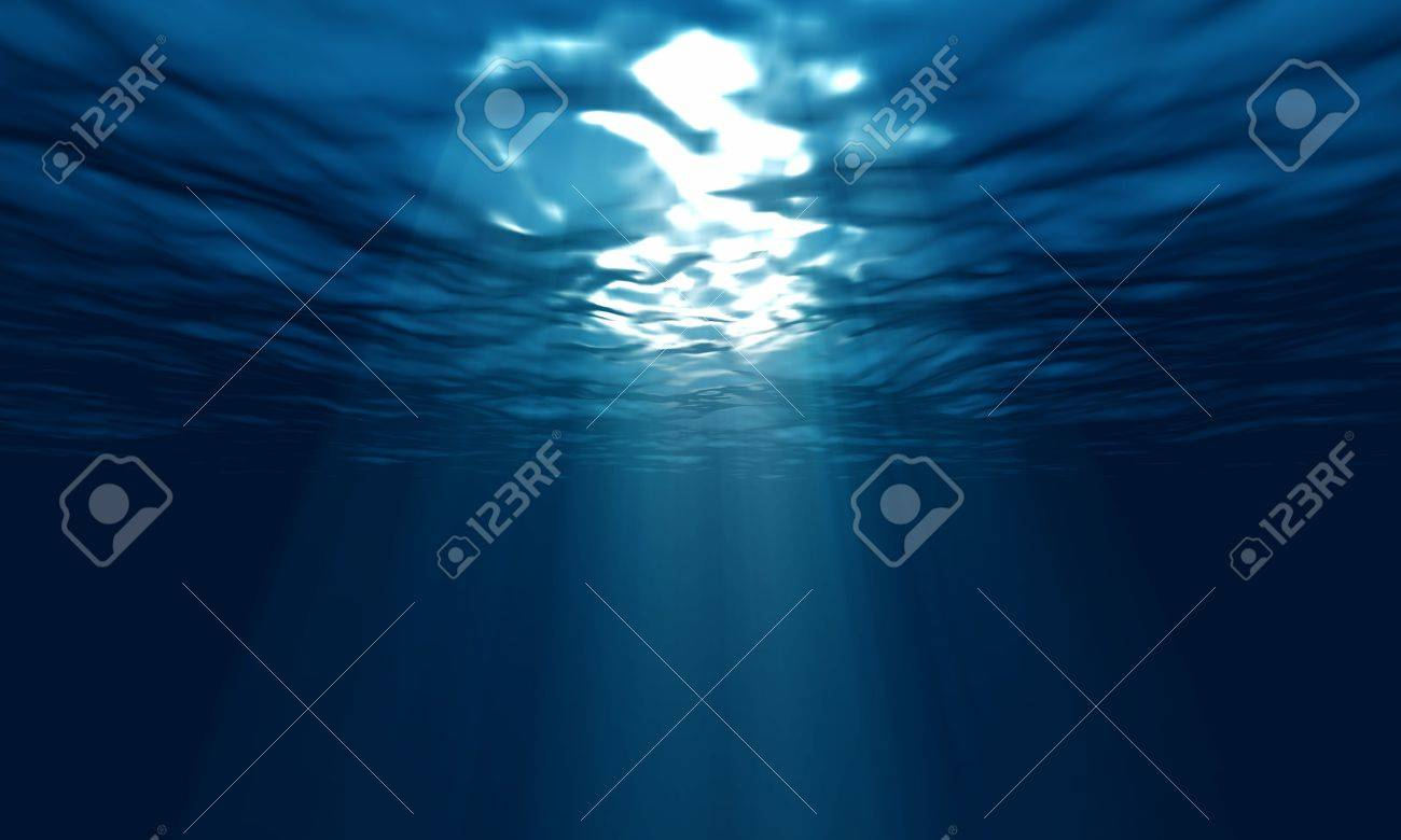 light underwater in the ocean Stock Photo - 15697160