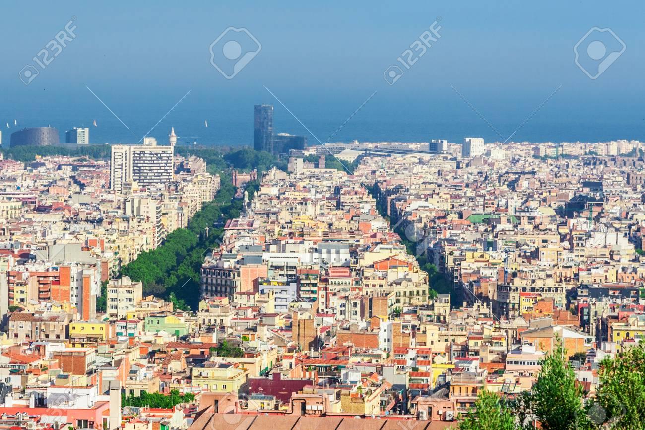 Barcelona Attractions Cityscape Of Barcelona Catalonia Spain