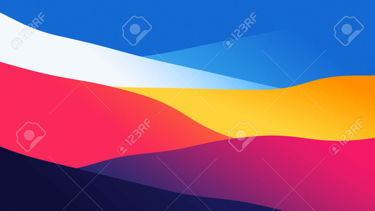 abstract wallpaper from wavy layers filled colorful gradient, 2D background illustration - 159036295