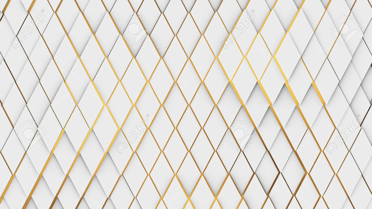 pattern wallpaper turbulent wavy diamonds tiles on yellow background - 159036296
