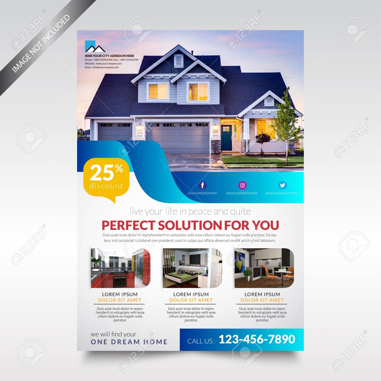 Real Estate Flyer Template Brochure Design