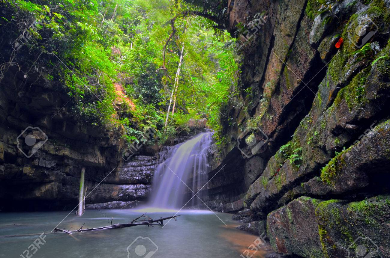 Waterfall Malaysia Pahang Batu Kawah Waterfall in Pahang