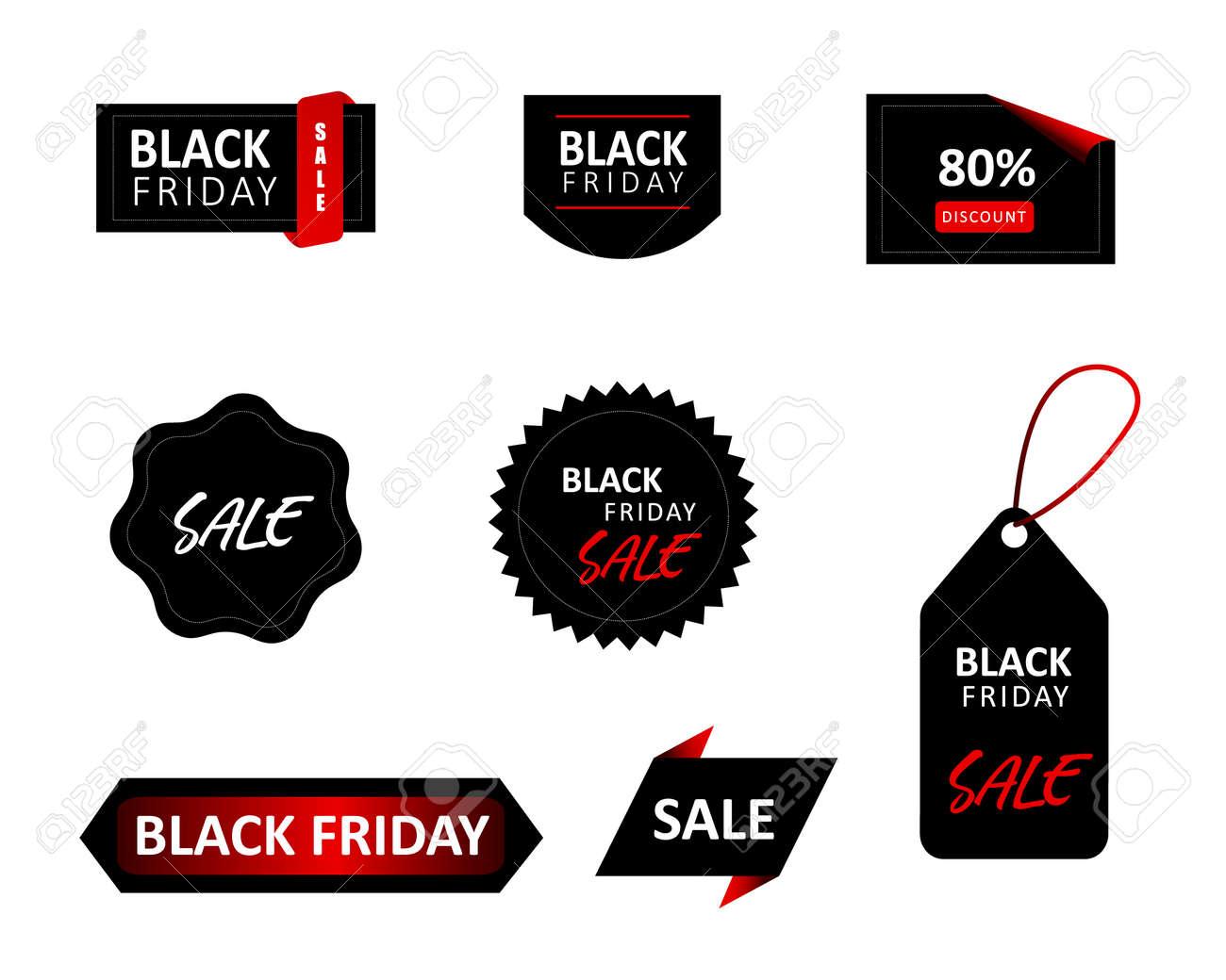 Black Friday sale tag set. Vector Illustration. - 155994591
