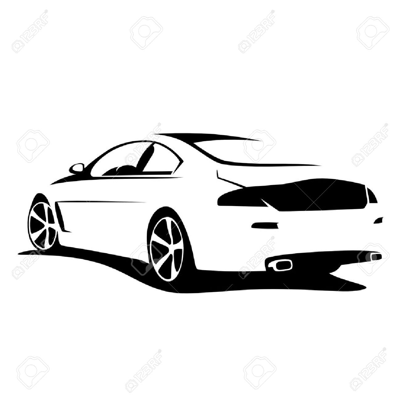 tuning car silhouette - 20227405