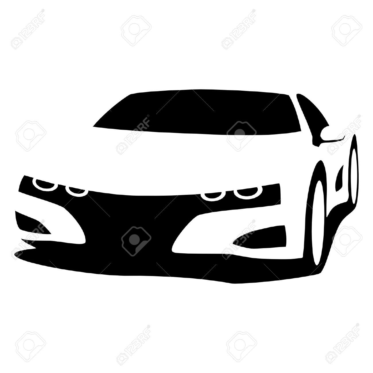 sports car silhouette royalty free cliparts vectors and stock rh 123rf com auto silhouette vector race car silhouette vector