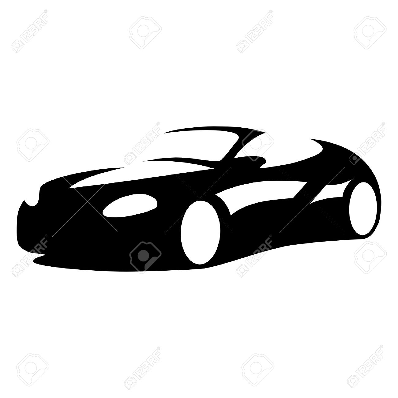 Sports Car Silhouette Royalty Free Cliparts Vectors And Stock