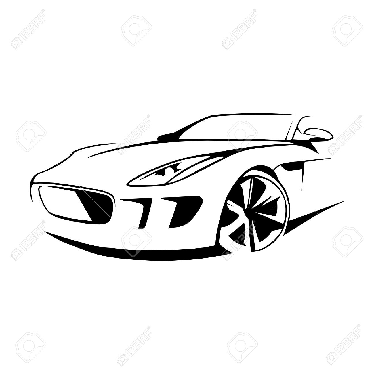 sports car silhouette vector royalty free cliparts vectors and rh 123rf com car silhouette vector free download car silhouette vector free