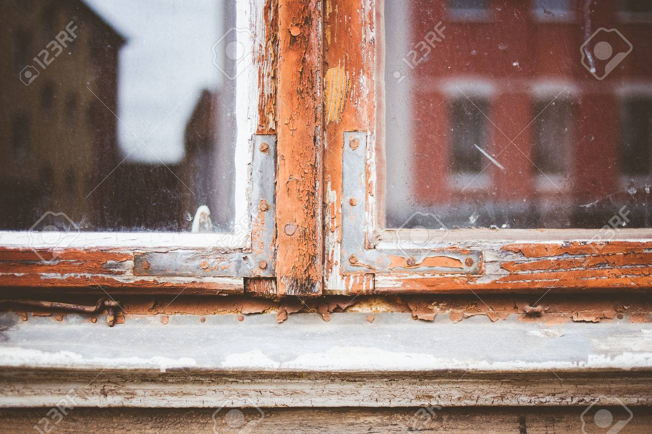 Old Window Frames With Loose Paint Stock Photo, Picture And Royalty ...