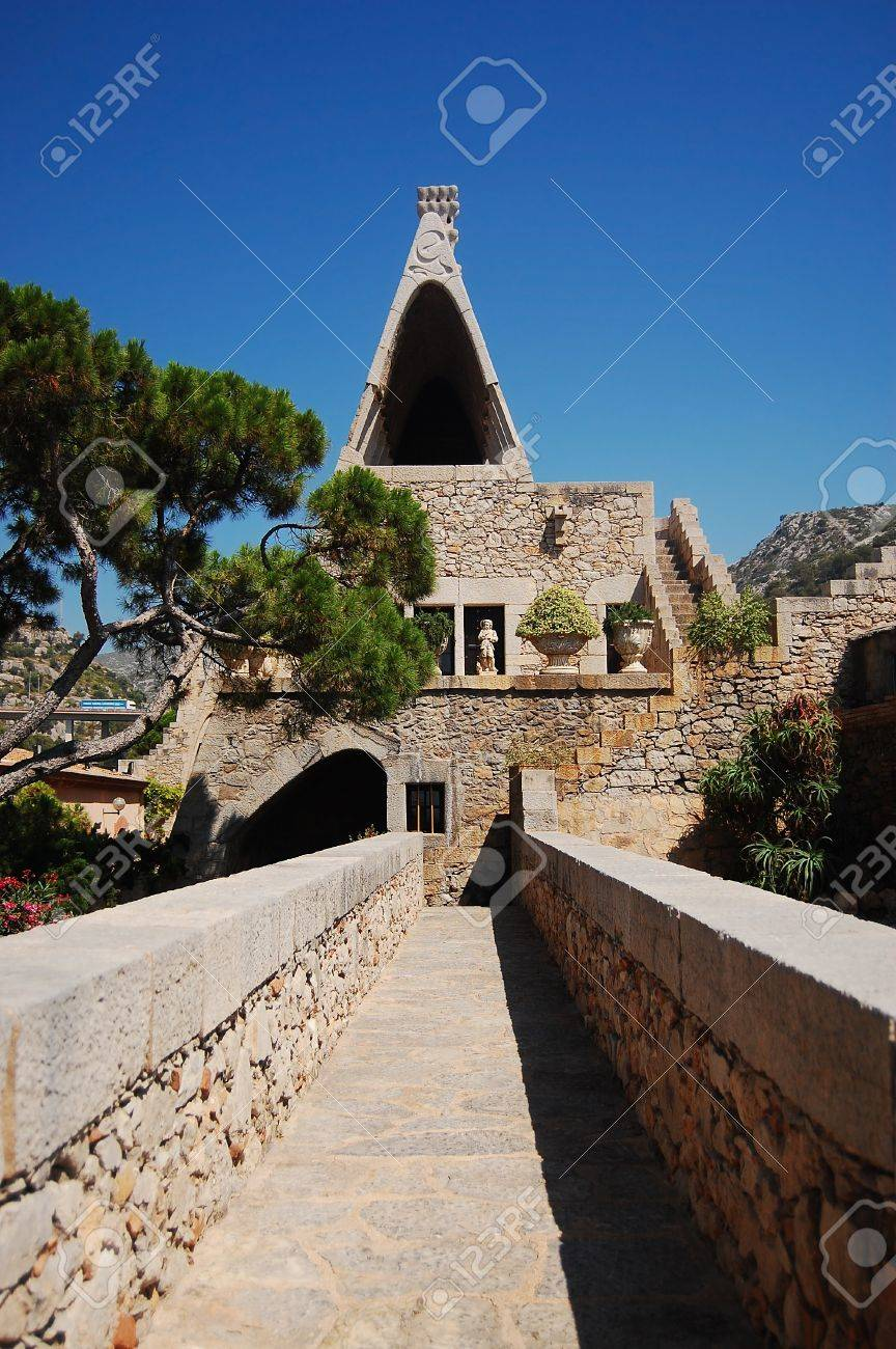 Part Of The Old Cellar Built By Famous Spanish Architect Antonio Gaudi Garraf Village Near