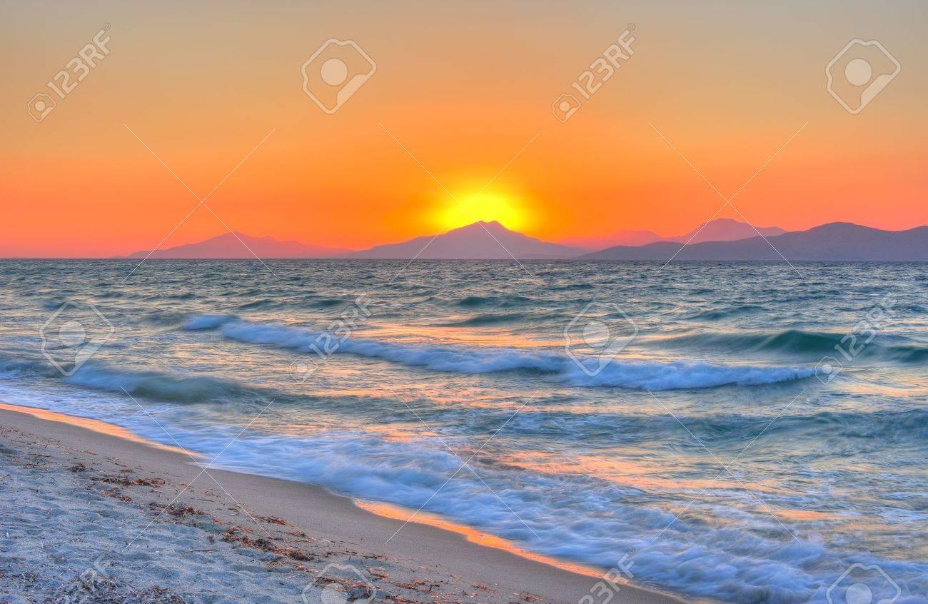 Sunset at the Aegean sea - 11274670