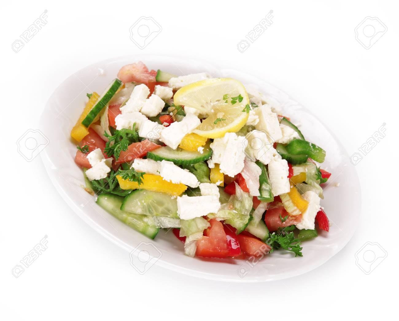 Healthy fresh salad over white Stock Photo - 14864202