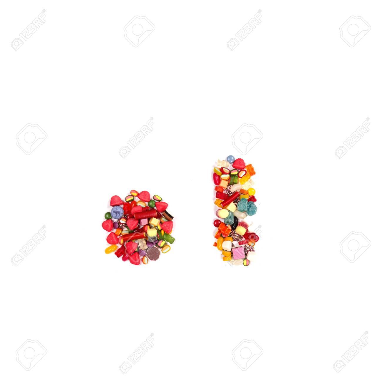 Candy alphabet font Stock Photo - 14864267