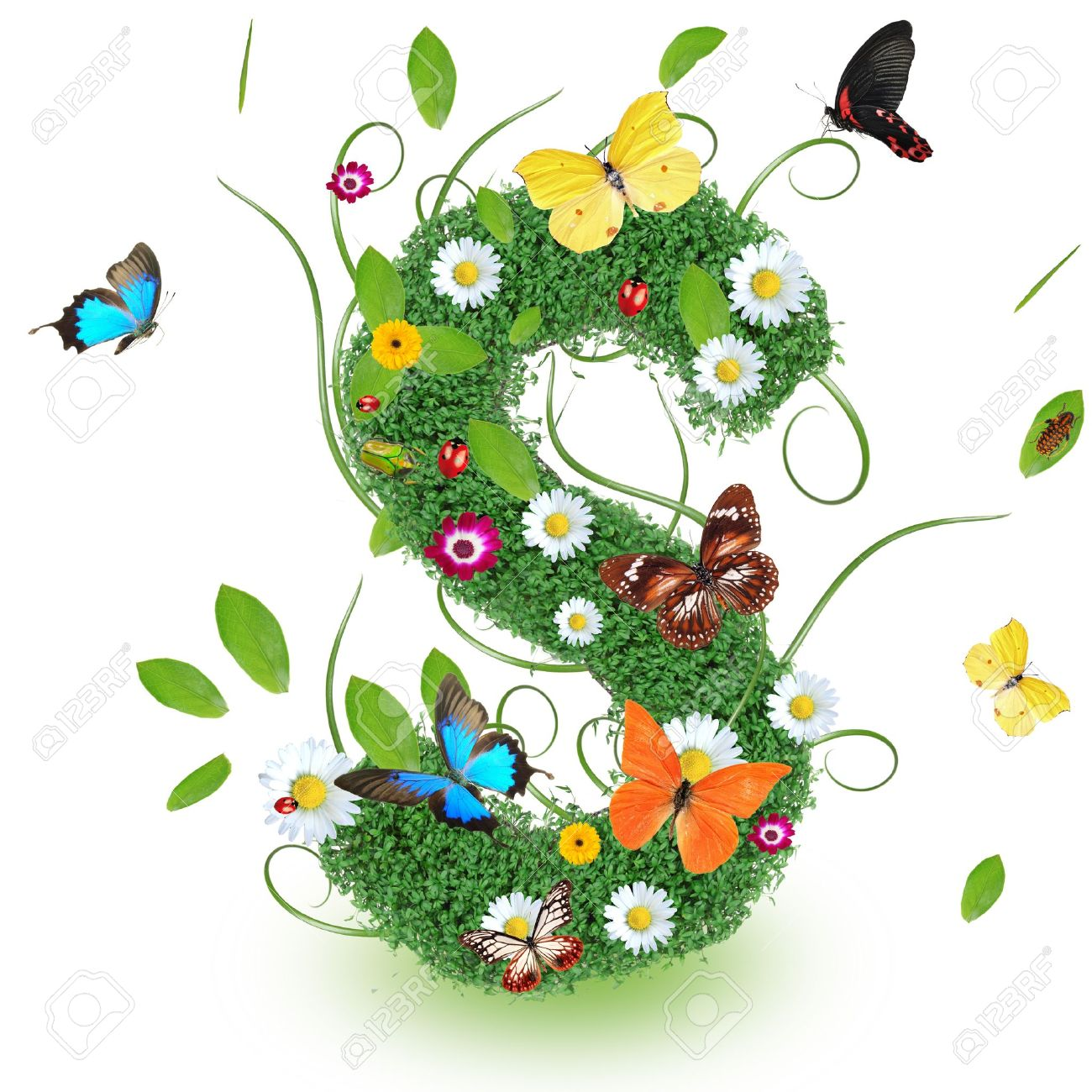 Beautiful Spring Letter S Stock Photo   14890077