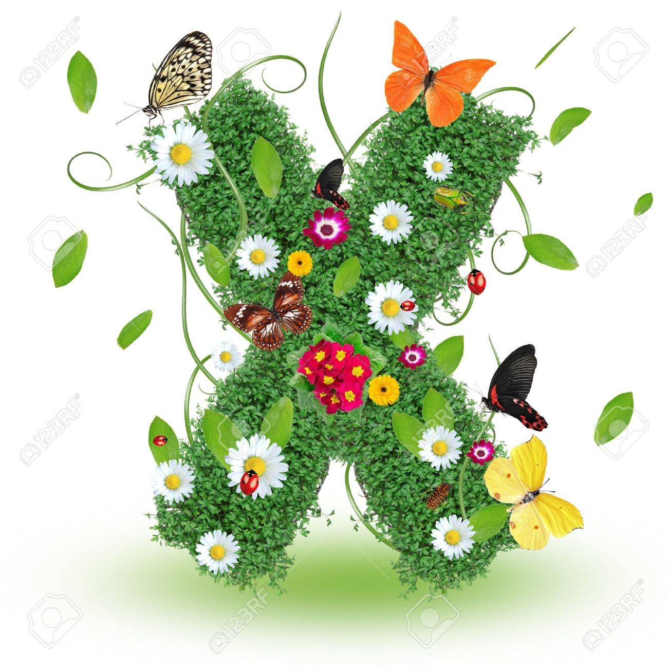 Beautiful spring letter  X Stock Photo - 14890083