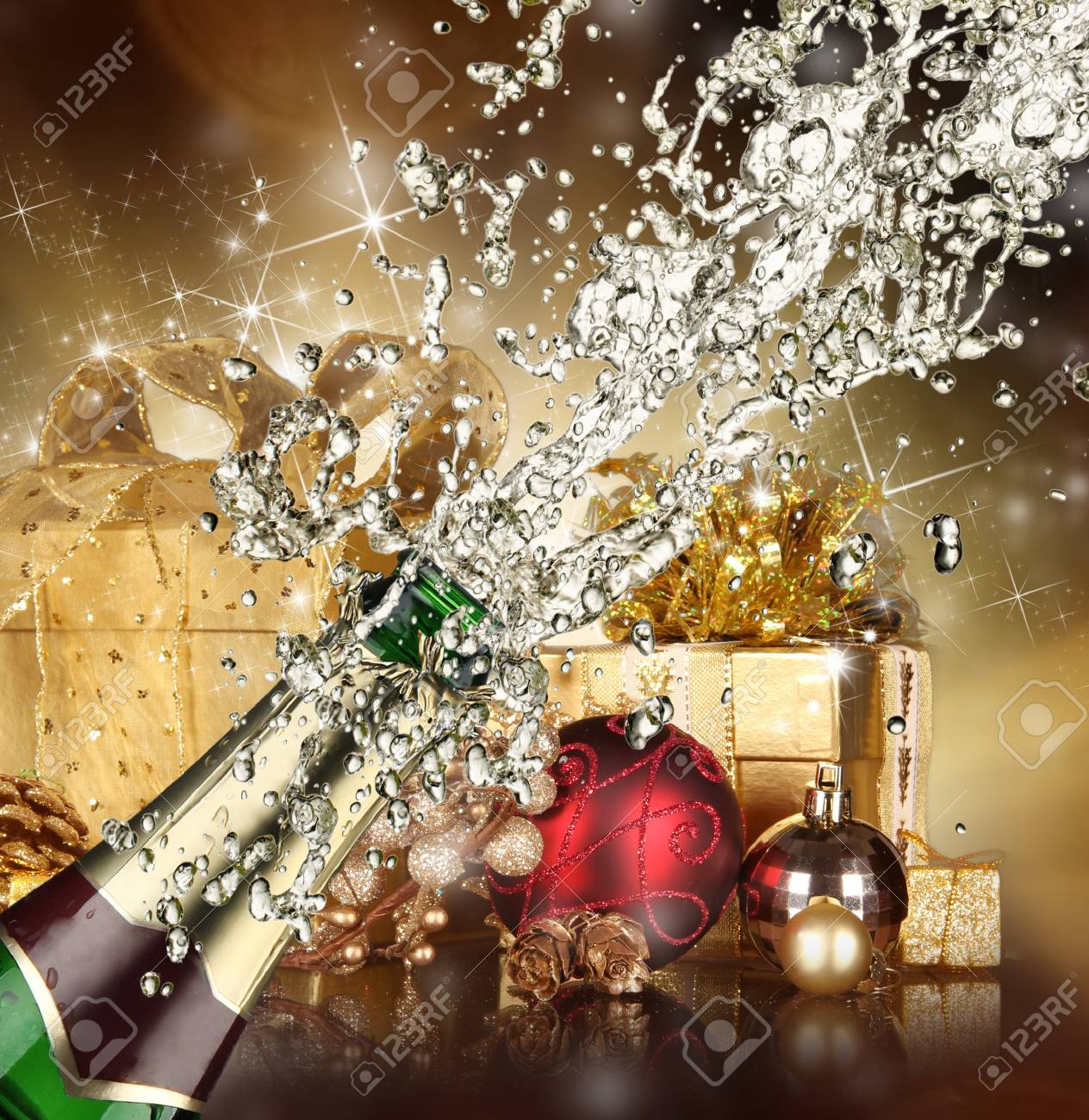 Close-up of champagne explosion Stock Photo - 15885723