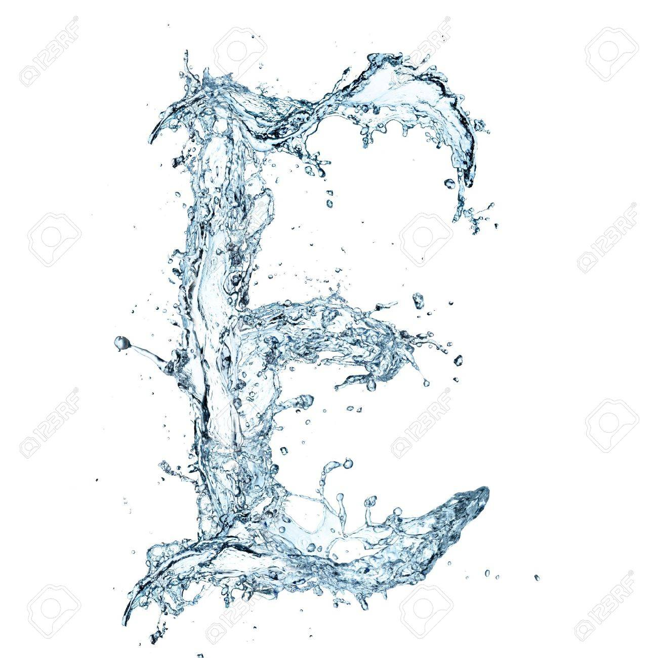 Letter of water alphabet Stock Photo - 16196790