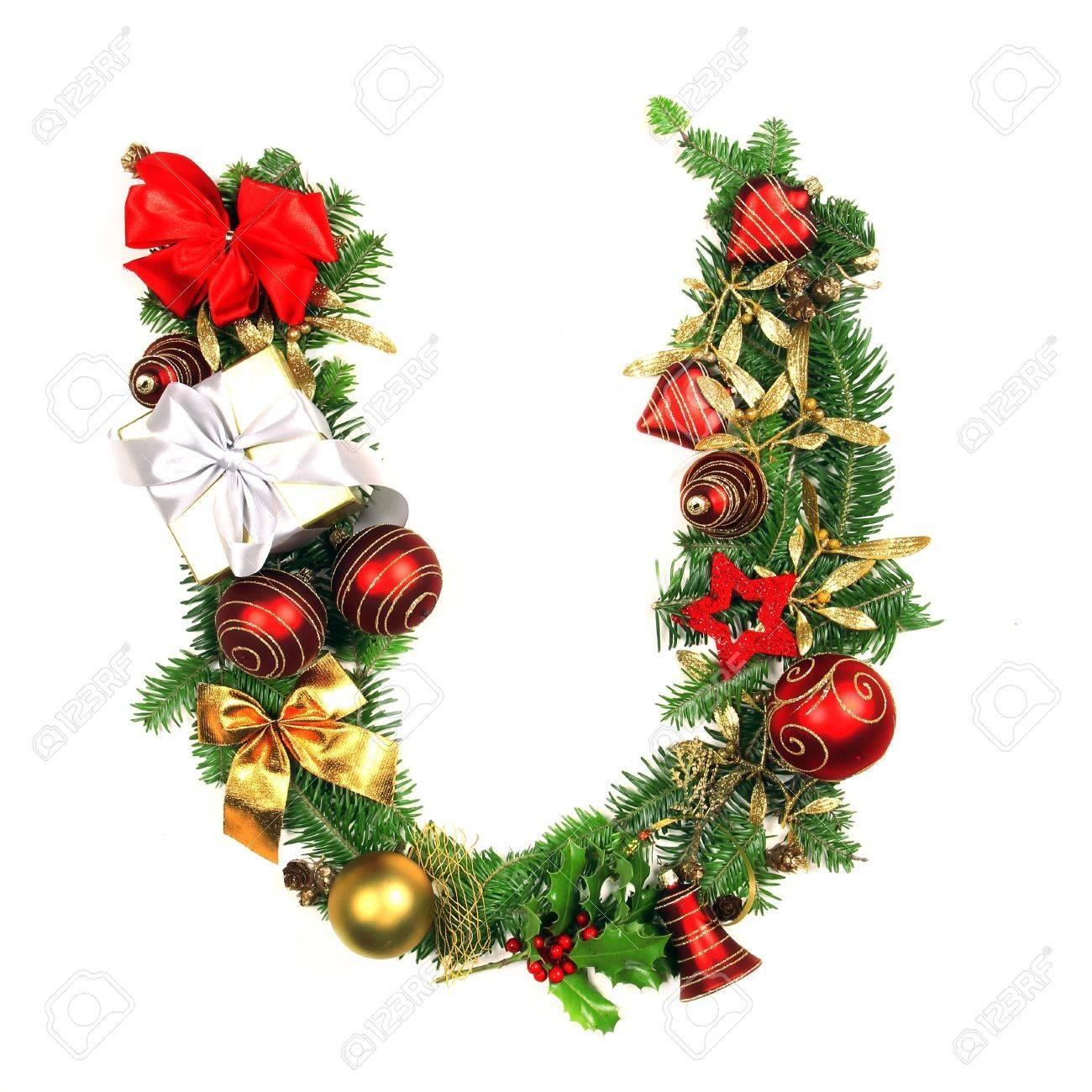 Alphabet Noel lettre alphabet de noël banque d'images et photos libres de droits