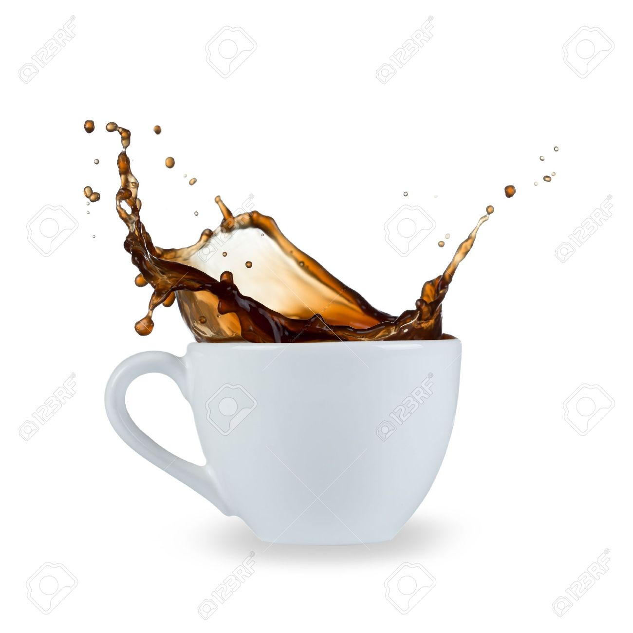 Coffee Splash Isolated On White Background Stock Photo Picture And Royalty Free Image Image 20303895
