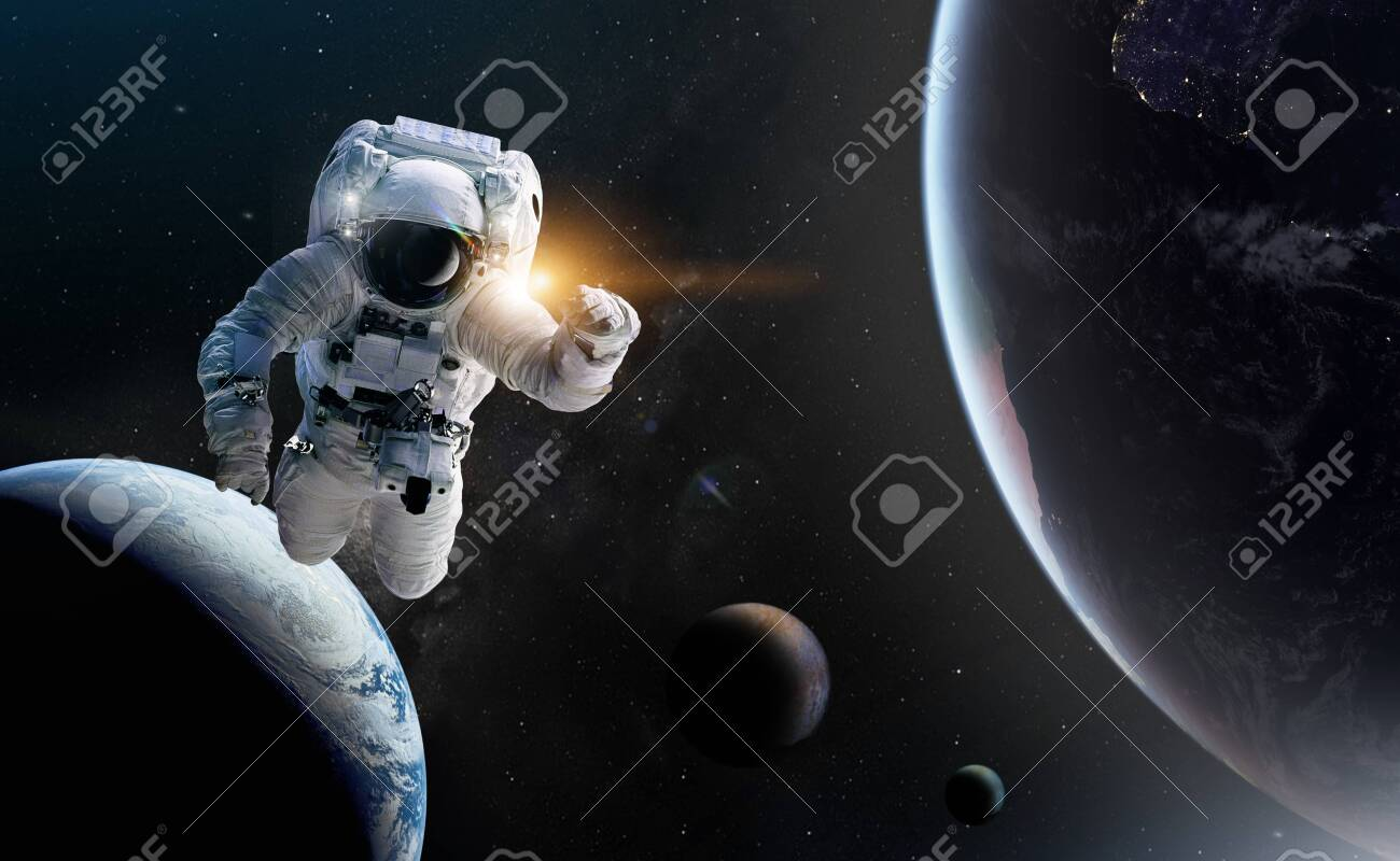 Concept of conquering the universe by the human race. - 130954511