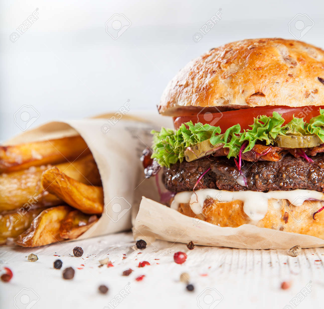 Close-up of home made burgers - 167748498