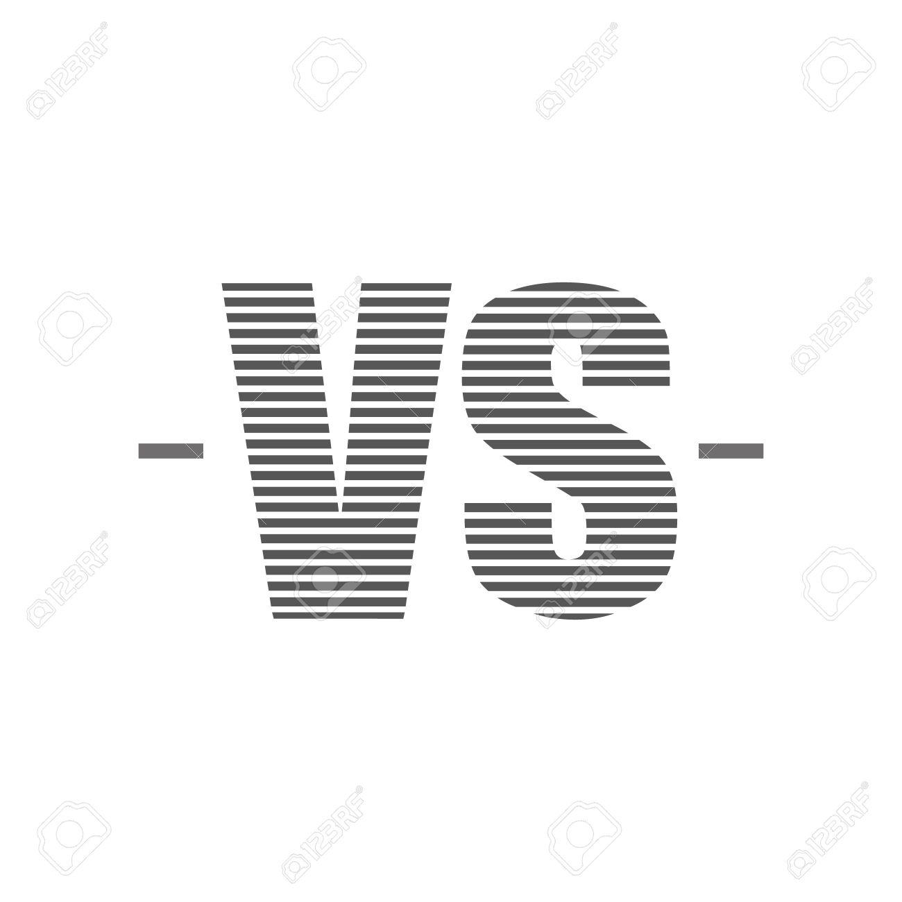 Background image vs background - Versus Logo Vs Vector Letters Illustration Isolated On White Background Stock Vector 49362330