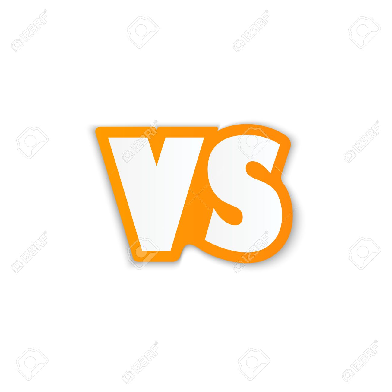 Background image vs background - Versus Logo Vs Vector Letters Illustration Isolated On White Background Stock Vector 49362347