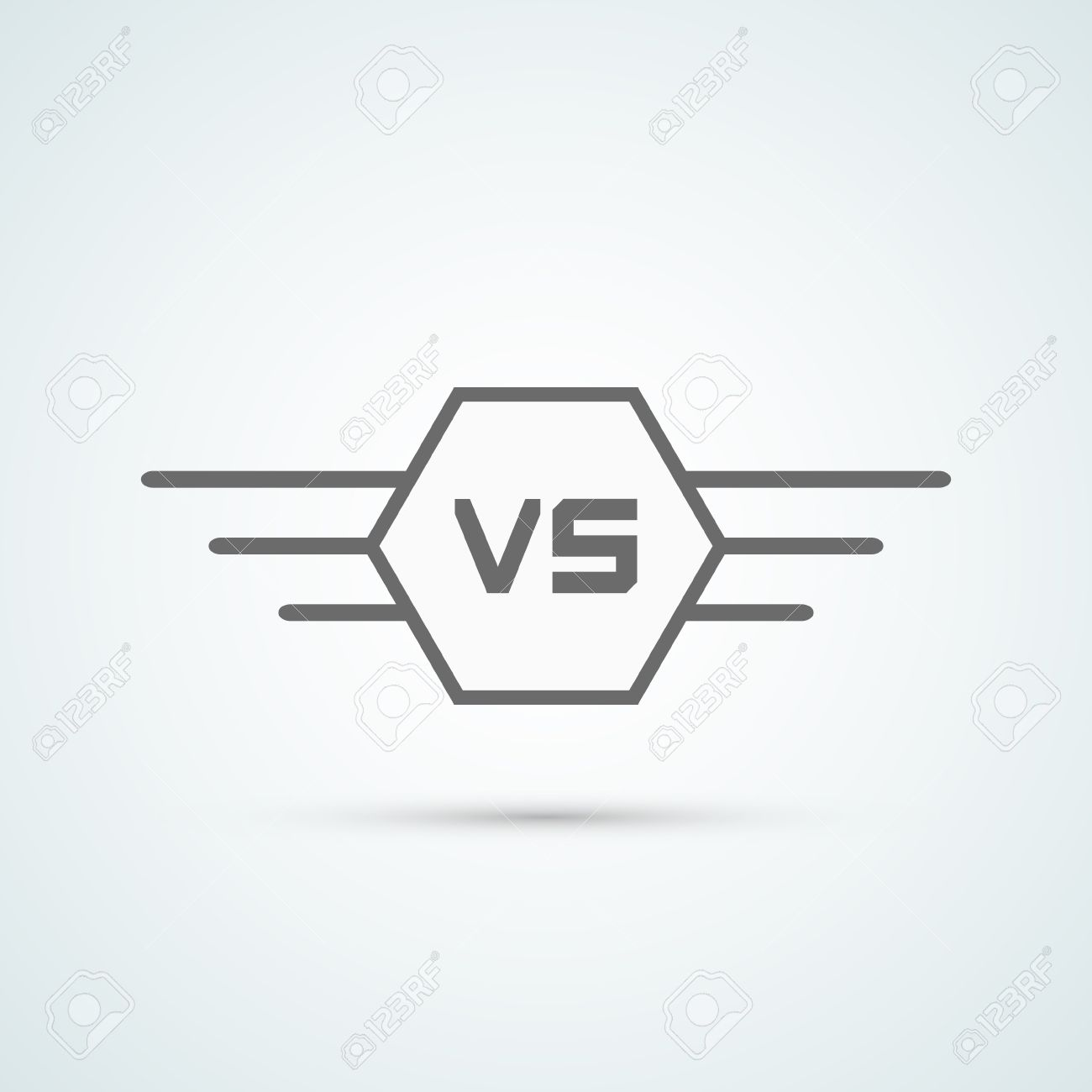 Background image vs background - Versus Logo Vs Vector Letters Illustration Isolated On White Background Stock Vector 49363404