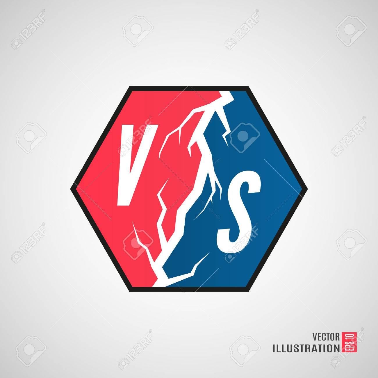Background image vs background - Versus Logo Vs Vector Letters Illustration Isolated On White Background Stock Vector 49363513