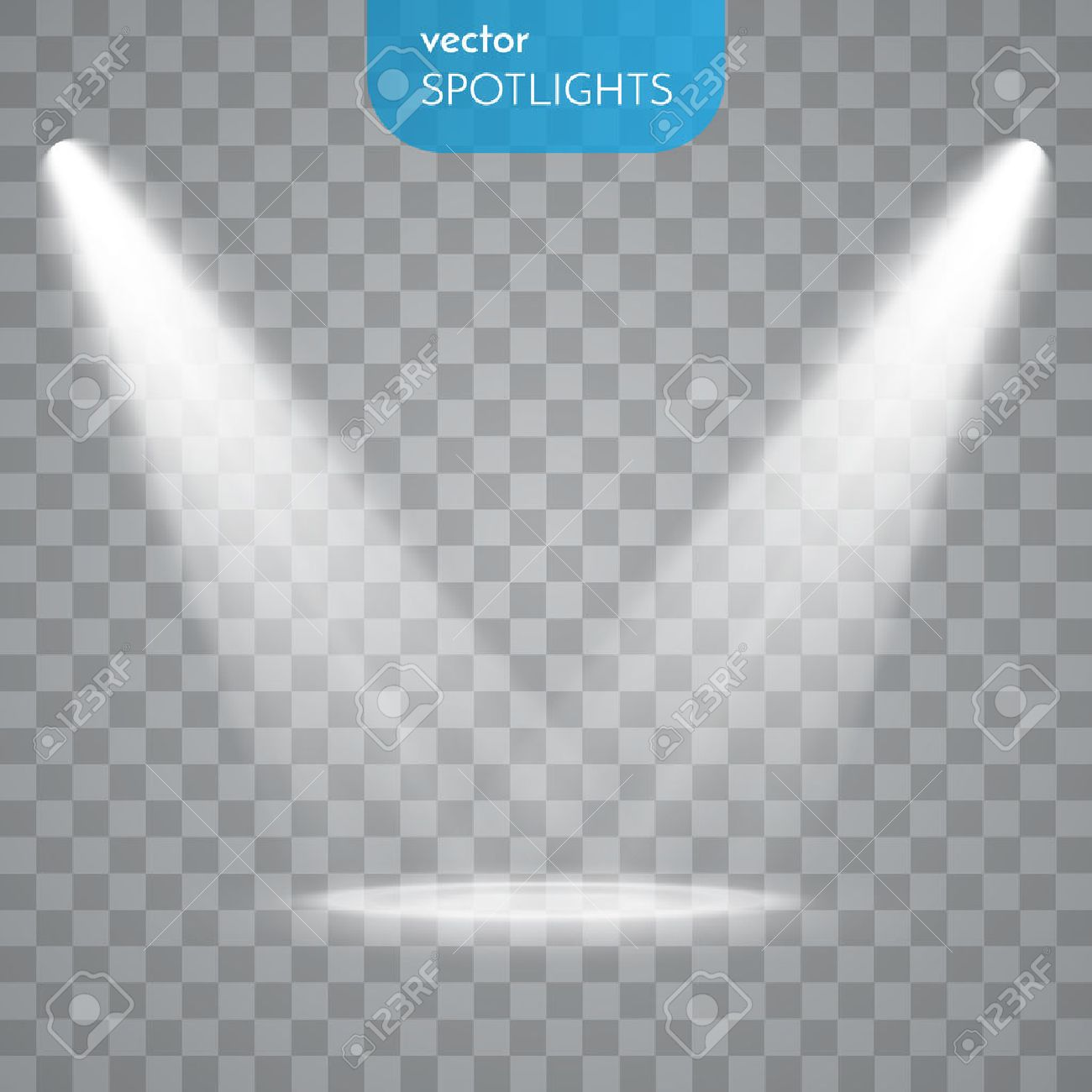 Abstract Spotlight isolated on transparent background. Light Effects. - 50158841