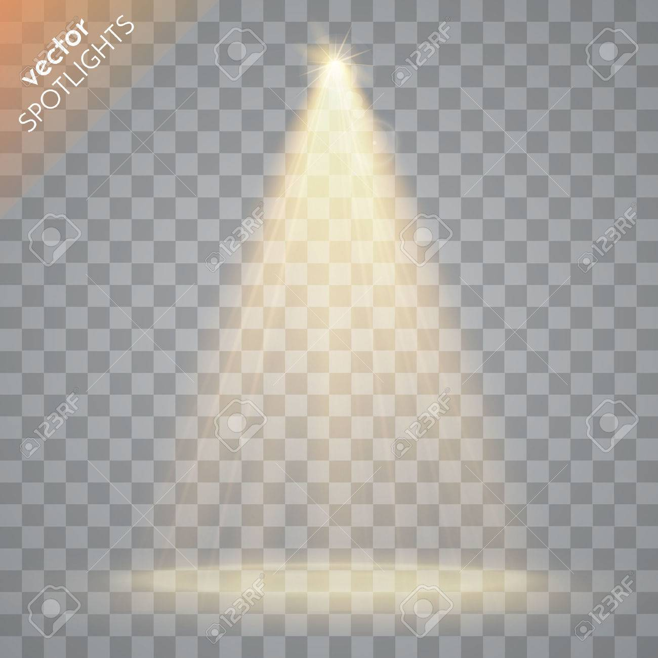 Abstract Vector Spotlight isolated on transparent background. Light Effects. - 51635821