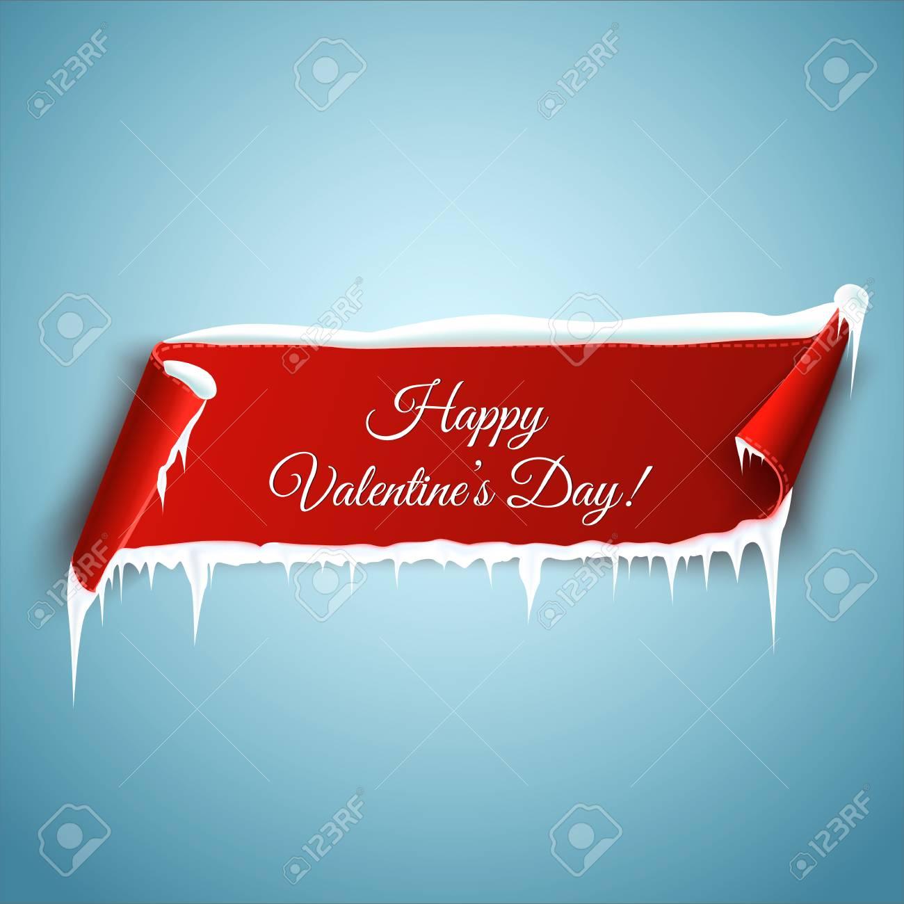 Feliz Día De San Valentín, Plantilla De Tarjeta De Felicitación ...