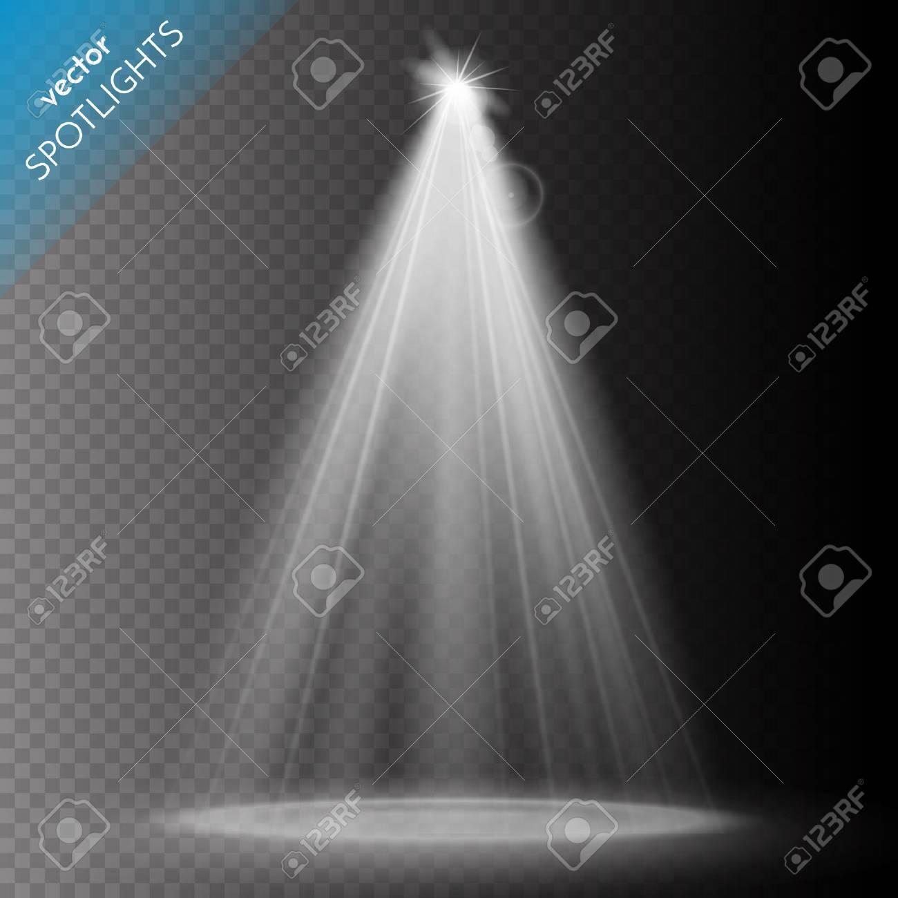 Vector Spotlights. Scene. Light Effects. Vector illustration - 55679689