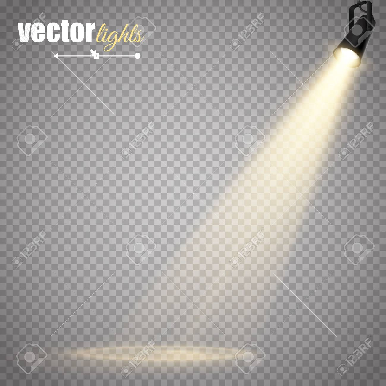 Abstract Vector Spotlight isolated on transparent background. Light Effects. - 55754203
