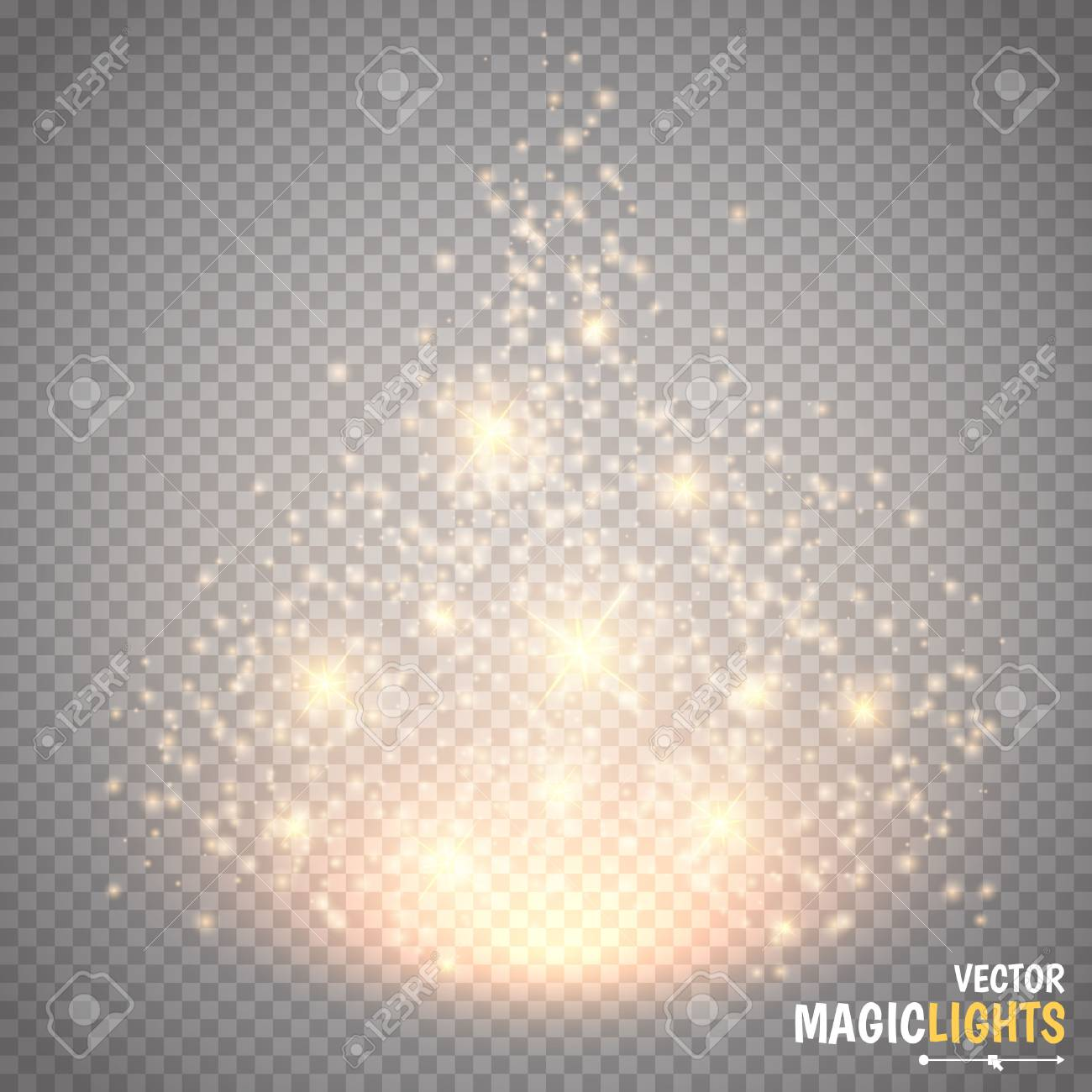 Magic light vector effect. Glow special effect light, flare, star and burst. Isolated spark. Vector illustration - 55755586