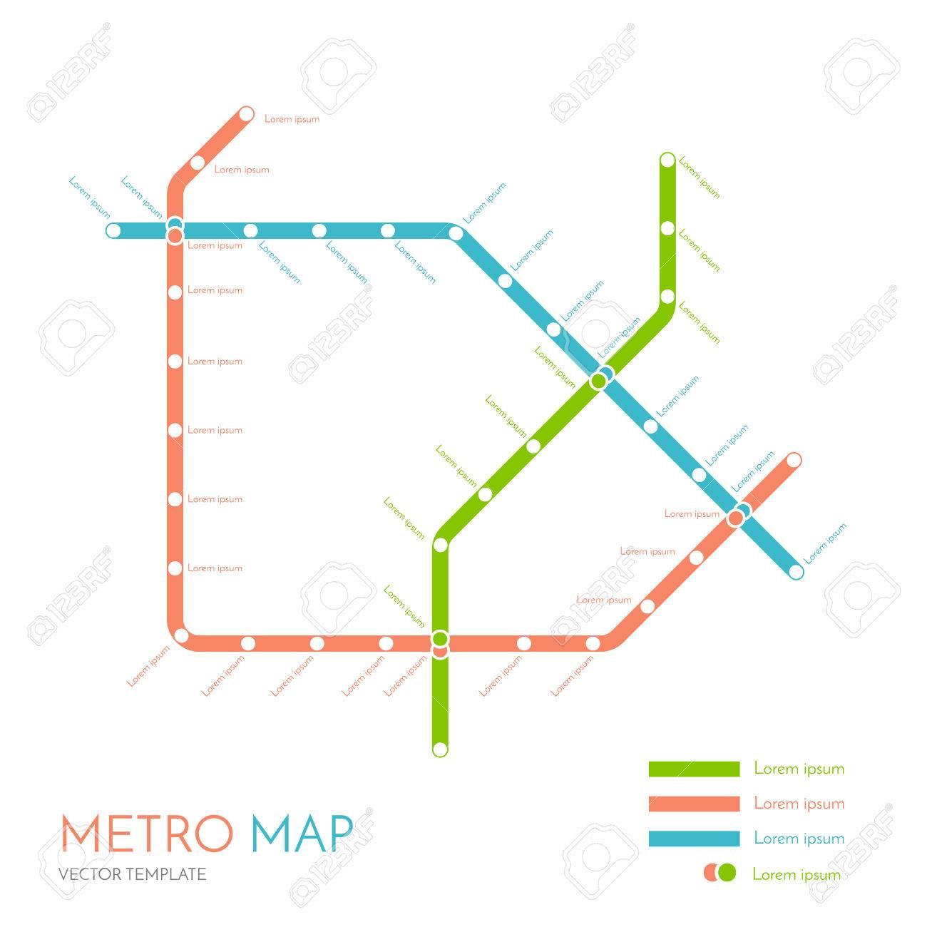 Metro Or Subway Map Design Template City Transportation Scheme