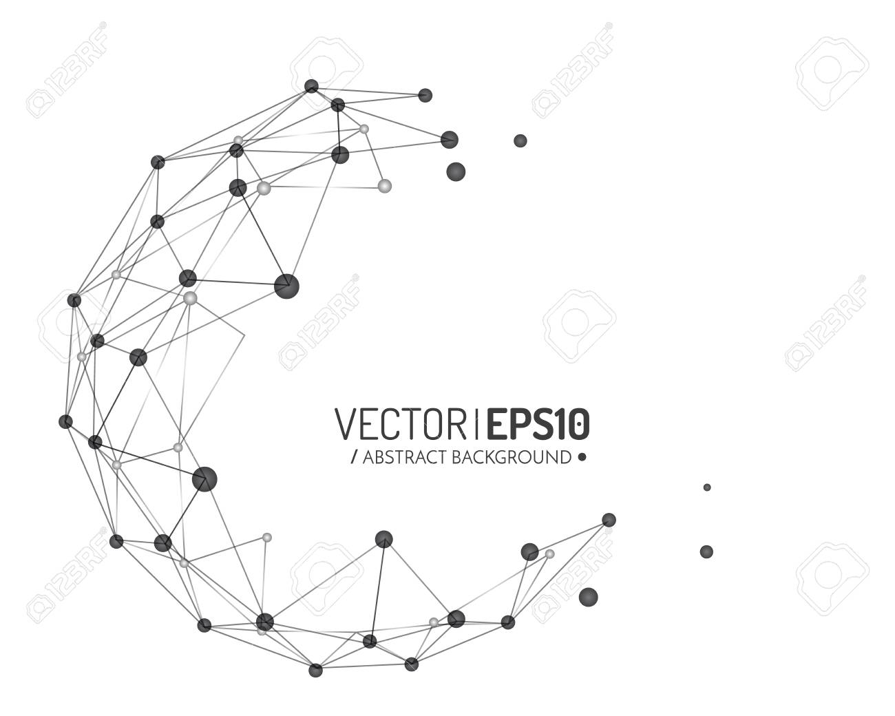 3d geometric vector design for business or science presentation. Vector illustration - 68972771