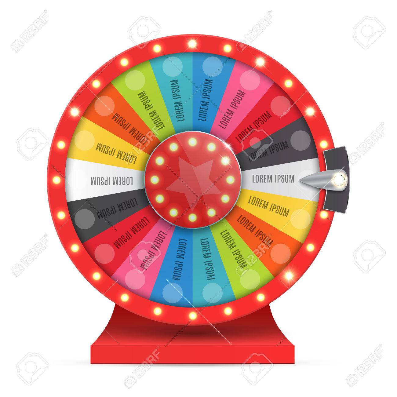 Colorful wheel of luck or fortune infographic. Vector illustration - 69007329