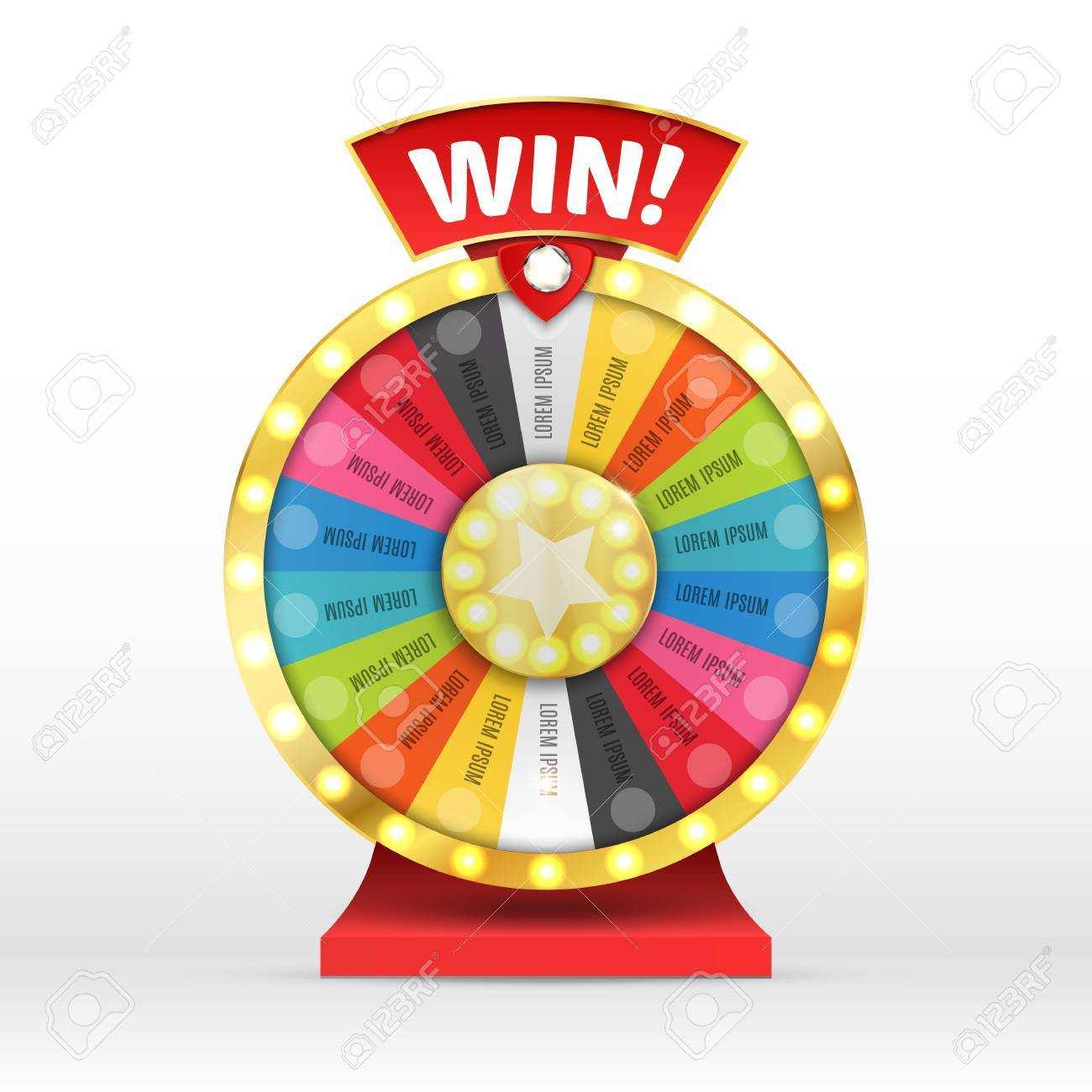 Colorful wheel of luck or fortune infographic. Vector illustration - 69007331