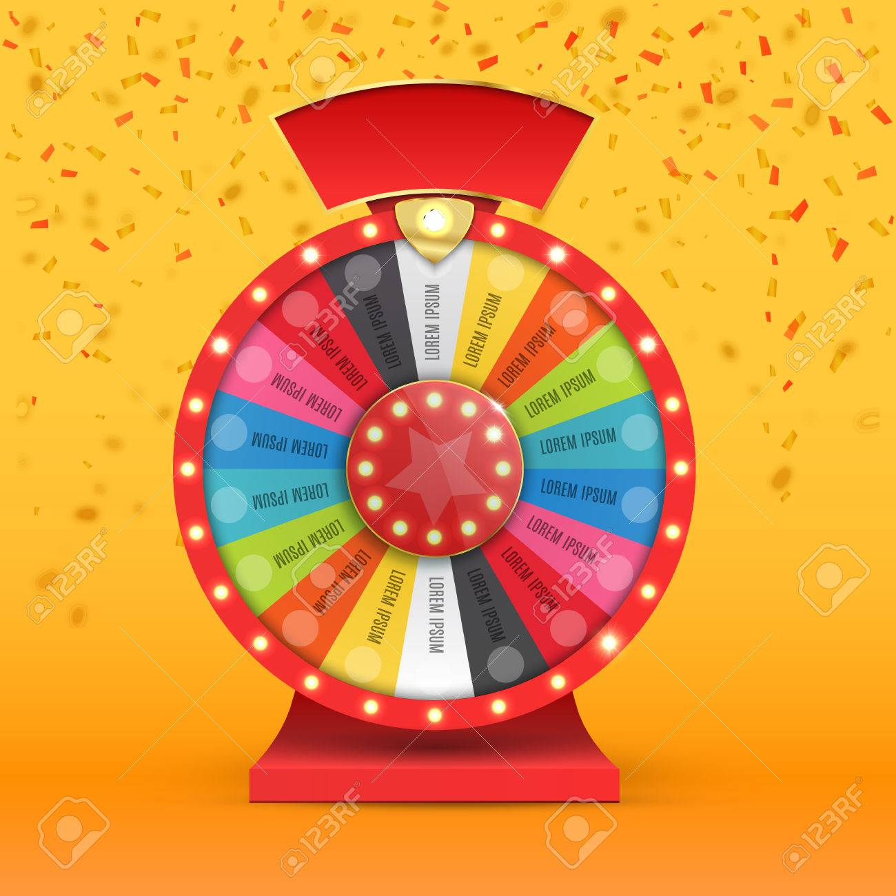 Colorful wheel of luck or fortune infographic. Vector illustration - 69007333